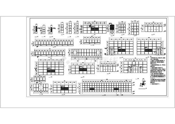 某多层框架办公楼工程毕业设计CAD资料(含结构计算书、结构图纸)-图一
