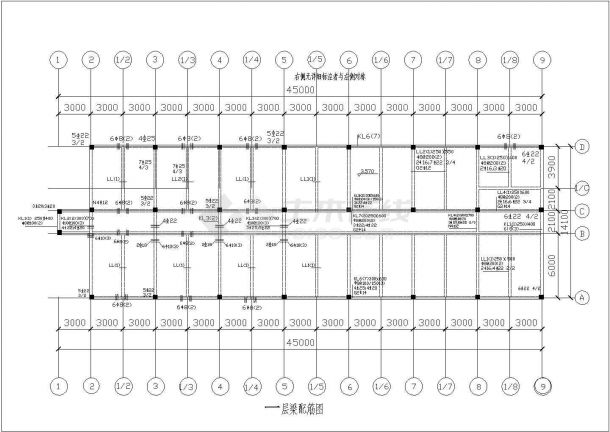 某三层框架商业工程毕业设计CAD资料(含结构计算书、结构图纸)-图一