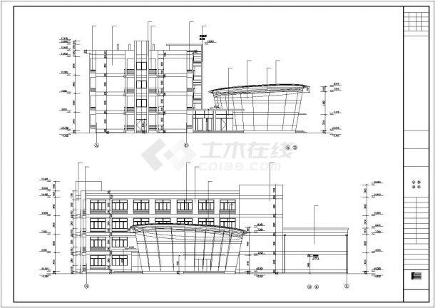 某四层框架商务楼工程毕业设计CAD资料(含结构计算书、结构图纸)-图二