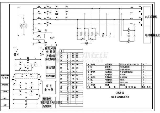 变电所电气图纸(直流操作)CAD图纸-图一