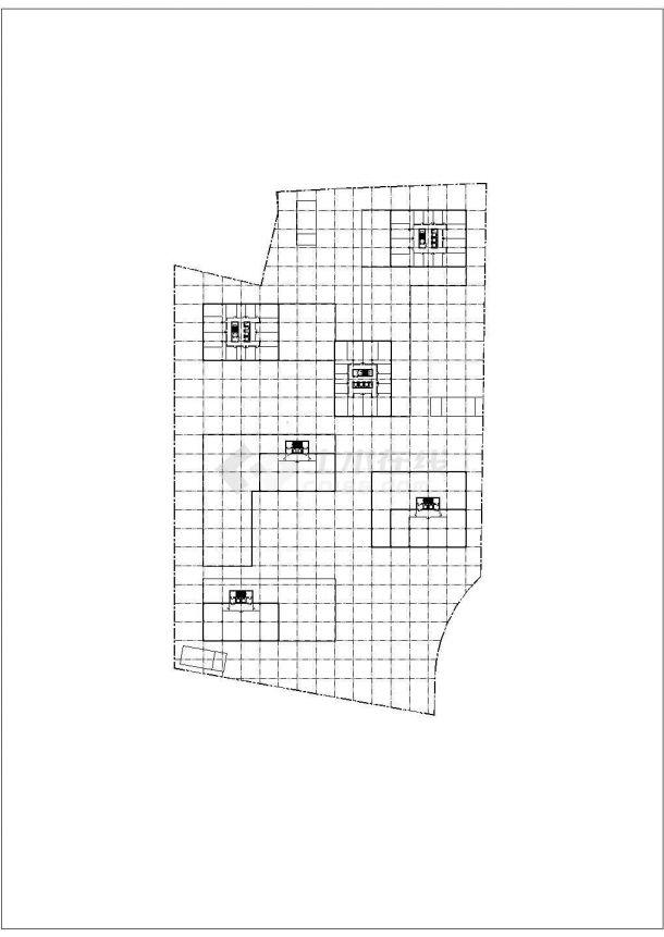 某大型商业区景观绿化规划设计cad总平面施工图(含经济技术指标)-图一