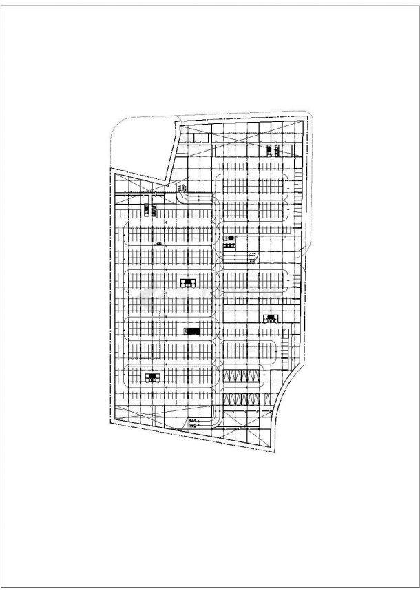 某大型商业区景观绿化规划设计cad总平面施工图(含经济技术指标)-图二