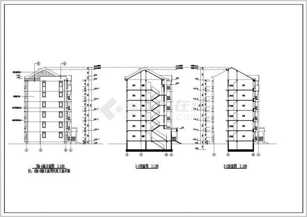 住宅设计_某六层住宅小区建筑施工CAD图-图二