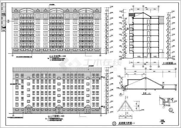 住宅设计_某小高层小区设计施工CAD图-图一