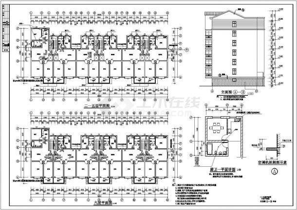 住宅设计_某小高层小区设计施工CAD图-图二