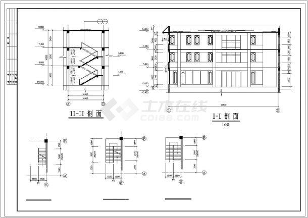 古建营业厅建筑基础布置参考图-图一