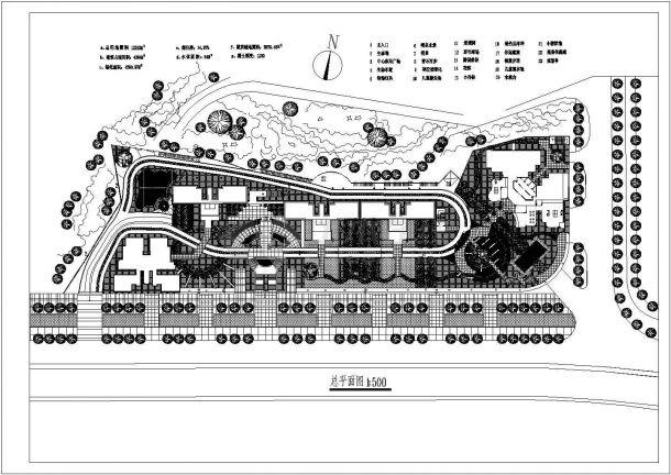 某小区全套景观设计施工CAD图-图一