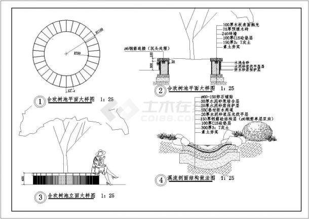 某高档别墅庭院景观绿化规划设计cad全套施工图(含设计说明)-图一