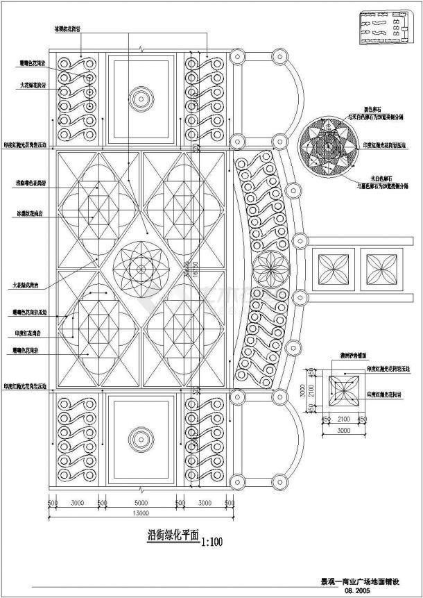 某住宅小区景观设计CAD图-图一