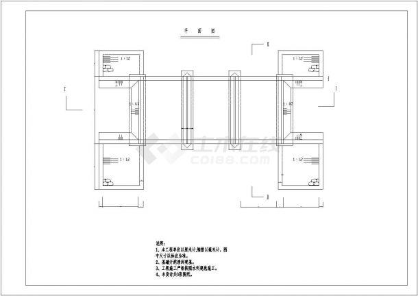 经典园林设计常用景观桥设计cad施工详图(甲级院设计)-图二
