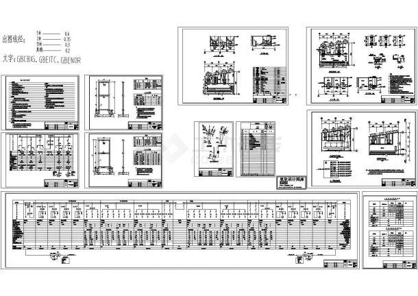 电站、变电所电气及设备20cad图纸-图一