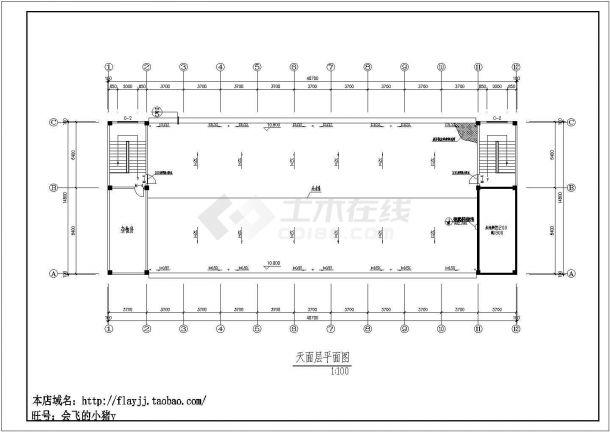 某工厂现浇钢筋混凝土结构职工公寓楼建筑设计施工图(含构造做发表)-图一