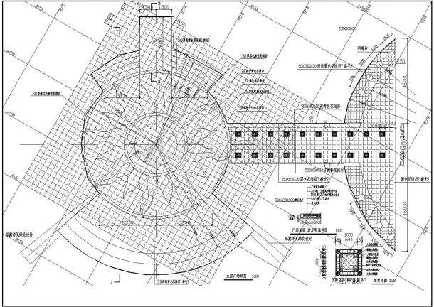 某河北太阳湖公园CAD完整环境景观设计施工图-图一