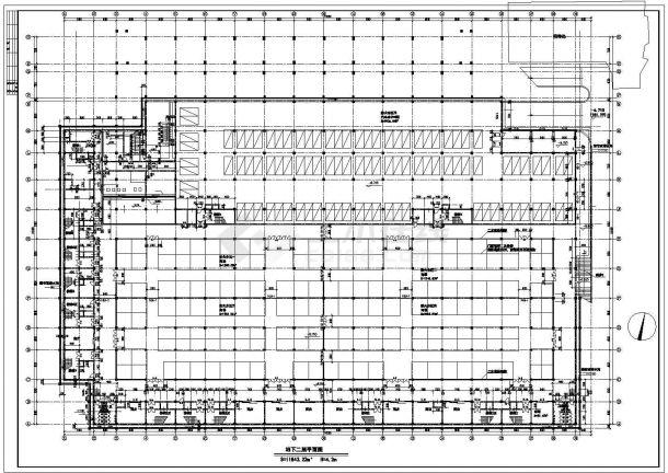某经济开发区地下商场及宾馆建筑设计全套方案CAD图纸-图一
