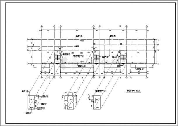 长50.04米 宽19.8米 八层办公楼建筑设计图-图一