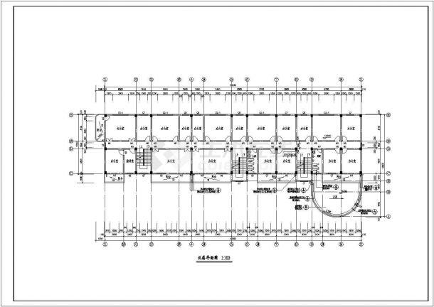 长50.04米 宽19.8米 八层办公楼建筑设计图-图二