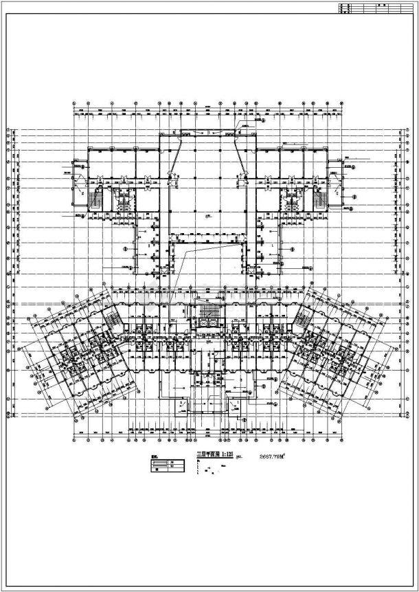 某经济发达区星级度假宾馆建筑设计方案CAD图纸-图二