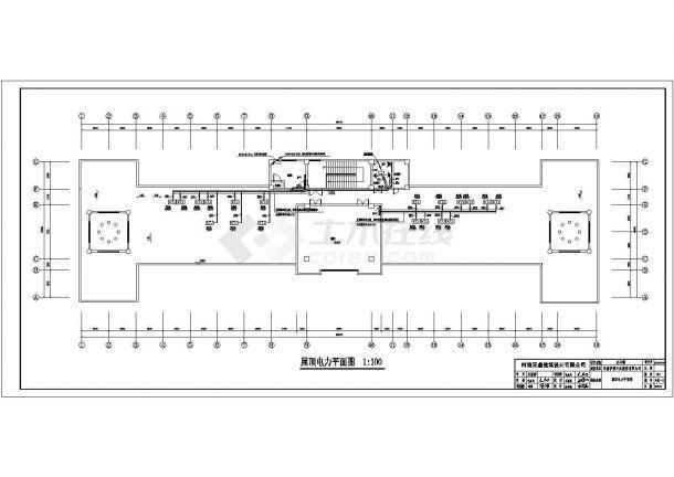 河南某单位五层办公楼电气设计全套CAD施工图-图二