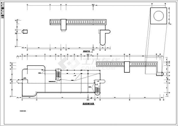某1万多平地上五层教学楼电气全套CAD设计图纸(地下一层)-图一
