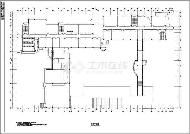 某1万多平地上五层教学楼电气全套CAD设计图纸(地下一层)-图二
