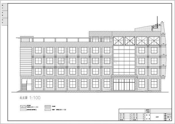 某20米框架结构五层办公楼建筑全套CAD施工图-图一