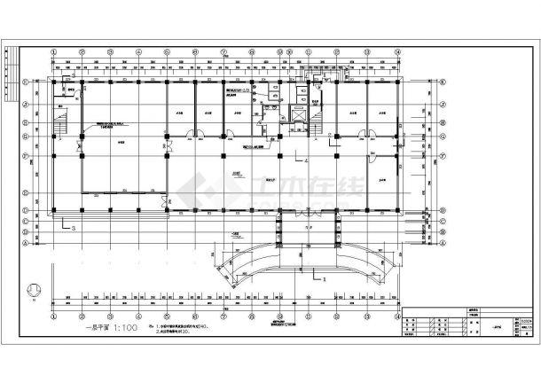 某20米框架结构五层办公楼建筑全套CAD施工图-图二