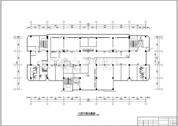 某地区-1+7层医院综合楼给排水施工图-图一