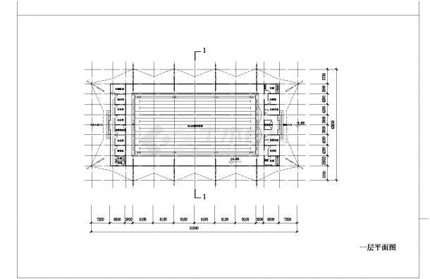 2层游泳馆建筑方案CAD设计图-图一