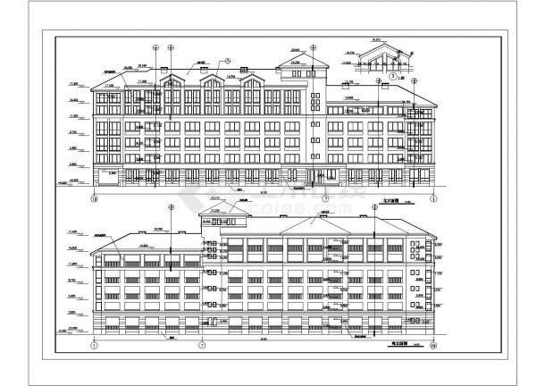 某城市钢筋混凝土结构外国语学校学生公寓楼建筑设计全套CAD图(含总平面图)-图一