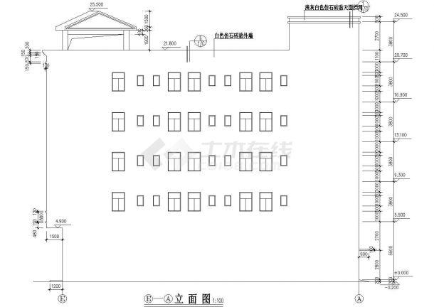 某城市高校宿舍楼现浇钢筋混凝土结构工程设计CAD图(含消防系统图)-图一