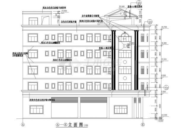 某城市高校宿舍楼现浇钢筋混凝土结构工程设计CAD图(含消防系统图)-图二