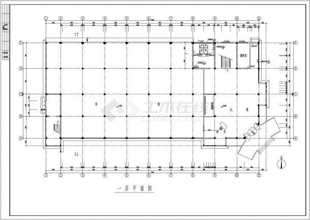 钢结构设计_框架结构办公楼整套CAD图-图一