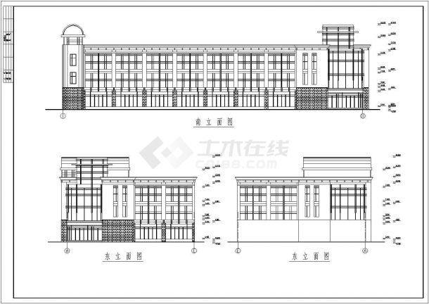 钢结构设计_框架结构办公楼整套CAD图-图二