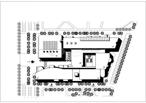 某地区教学楼建筑方案设计图-图一