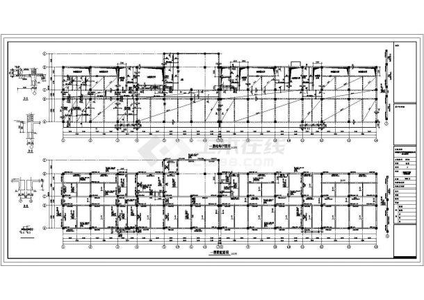 徐州市万江西路某4层框架结构办公楼全套结构设计CAD图纸-图一