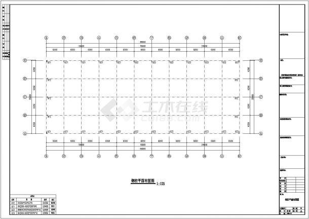 钢结构设计_某地区公司厂房钢结构工程CAD图-图一