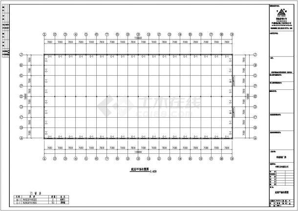 钢结构设计_某地126Mx56M规格钢结构工程CAD图-图一