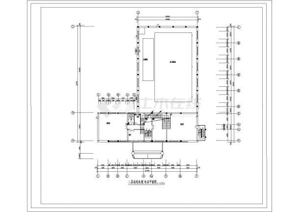 小型游泳馆电气设计cad施工图-图一