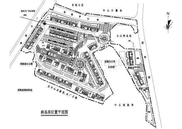 某住宅小区设计CAD建筑总平面图-图一