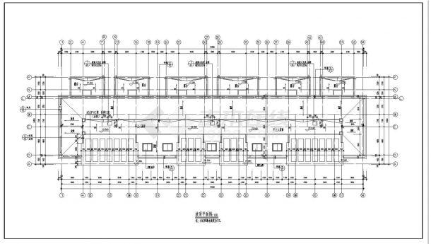某小区高层坡顶住宅楼建筑施工图CAD详图-图一