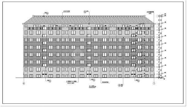 某小区高层坡顶住宅楼建筑施工图CAD详图-图二