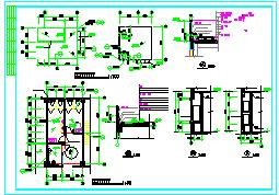 某地6层框架结构办公楼建筑设计cad施工图-图一
