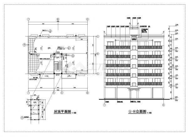 丹巴县某高层框架商住宅楼施工图CAD详图-图二