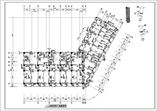 某地高层办公楼框架结构设计全套CAD施工图-图一
