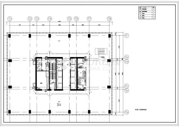 某地区高层办公楼安防布置电气全套CAD设计图-图一