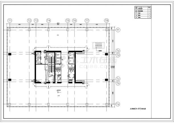 某地区高层办公楼安防布置电气全套CAD设计图-图二