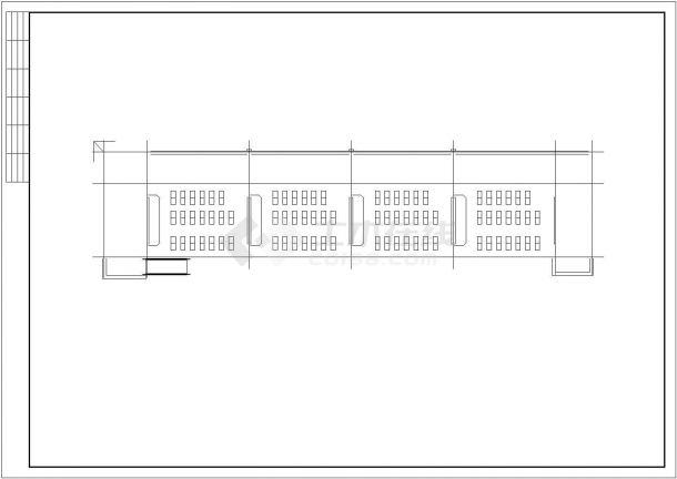 某地现代风格五层办公楼建筑全套cad图(含效果图、模型)-图一
