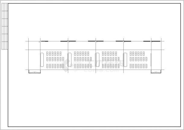 某地现代风格五层办公楼建筑全套cad图(含效果图、模型)-图二