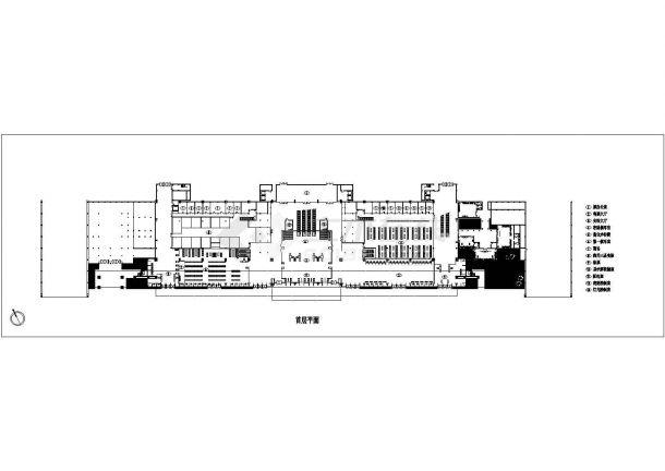 某73924平方米长途汽车客运站带裙楼全套施工设计图纸(含效果图)-图二