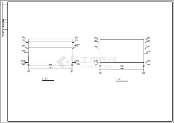 杭州市某木材厂单层砖混结构小型加工厂房全套建筑设计CAD图纸-图一